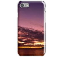Sunset, new moon and star - best viewed large iPhone Case/Skin