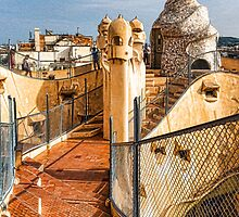 Gaudi's Fascinating Rooftop – Impressions Of Barcelona by Georgia Mizuleva