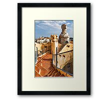 Gaudi's Fascinating Rooftop – Impressions Of Barcelona Framed Print