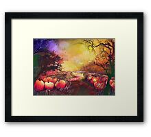 Pumpkin patch'... Framed Print