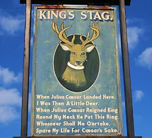 The King's Stag Sign by RedHillDigital