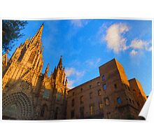 Warm Glow Cathedral - Impressions Of Barcelona Poster