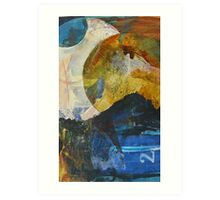 Unintended lunar landscape semi-abstract Art Print