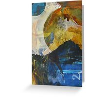 Unintended lunar landscape semi-abstract Greeting Card