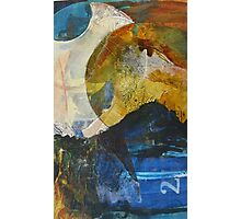Unintended lunar landscape semi-abstract Photographic Print