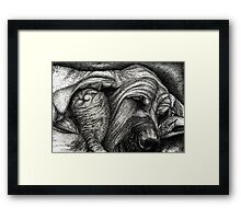 A Lesson in Getting Along - 101- B&W Framed Print