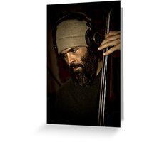 Bass Man  Greeting Card