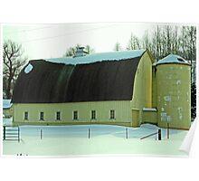 barn in winter Poster