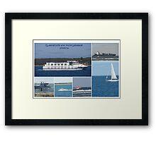 Boats Collage Framed Print