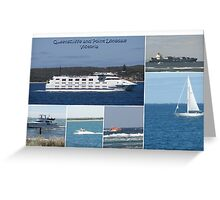Boats Collage Greeting Card