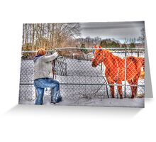 Lina and the Horse HDR Greeting Card