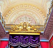 Ceiling in the Hermitage Museum Russia by robert cabrera