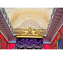Ceiling in the Hermitage Museum Russia Photographic Print