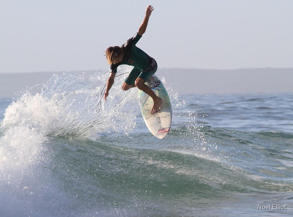 Surfing The Lake #1, Culburra Beach by Noel Elliot