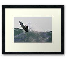 Surfing The Lake #2, Culburra Beach Framed Print