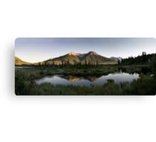 Vermillion lakes panoramic Canvas Print