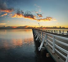 Shorncliffe Pier Sunrise by Bill Owens