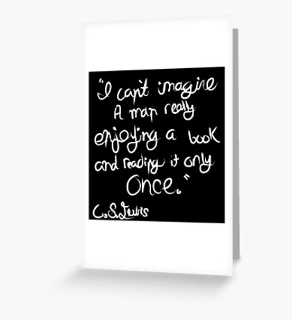 C. S. Lewis on Books Greeting Card
