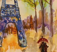 Paris rain  by eoconnor