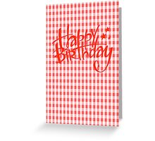 The trend for Spring - Gingham Greeting Card