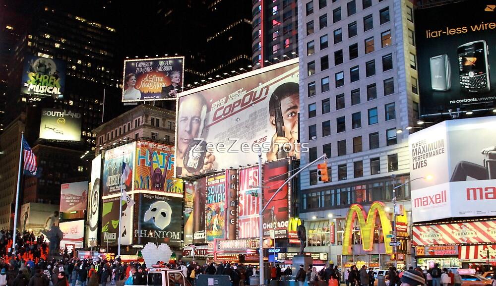Time Square... New York City by ZeeZeeshots