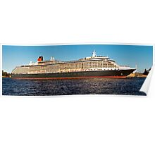 "Cunard Queen Victoria - Sydney Harbour - 30"" x 10"" Panorama Poster"