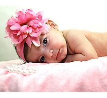 Baby in Pink Photographic Print