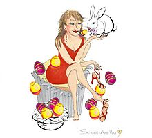 Easter Cupcake Lady by Annie18c