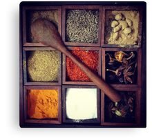 Flavours of India Canvas Print