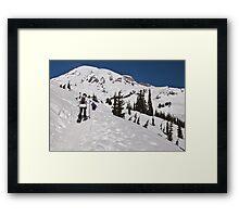 Snowshoeing at Paradise, Mt. Rainier National Park Framed Print