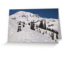 Snowshoeing at Paradise, Mt. Rainier National Park Greeting Card