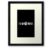 Phases of the Moon Framed Print