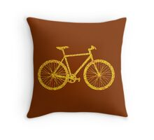 Fixie Bike Bling Throw Pillow