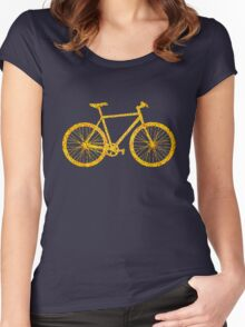 Fixie Bike Bling Women's Fitted Scoop T-Shirt