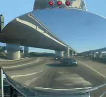 Mirrowed in an 18 wheeler tanker, San Francisco by awendt