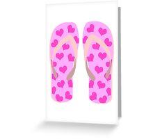 Pink Flip Flops Greeting Card