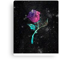 Stained Glass Rose Galaxy Canvas Print