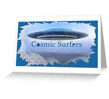 Cosmic Surfers Greeting Card