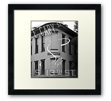 Cary and 13th Framed Print