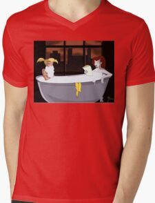 Two Sirens in a Tub Mens V-Neck T-Shirt