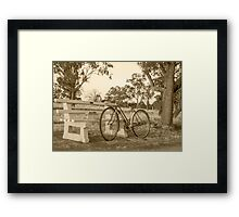 Been to the library........  Framed Print