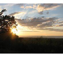 "Sunset in ""da U.P."" Photographic Print"