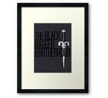 The BLACK DAGGER BROTHERHOOD   [black text] Framed Print