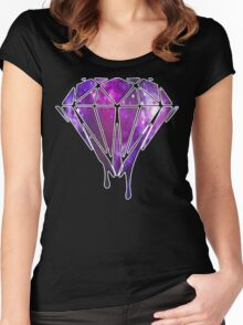 Melting Galaxy Diamond  Women's Fitted Scoop T-Shirt