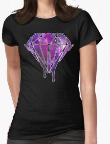 Melting Galaxy Diamond  Womens Fitted T-Shirt
