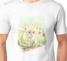 Kitty amongst the Flowers Unisex T-Shirt