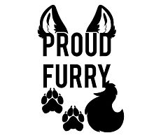 PROUD FURRY   -black- Photographic Print