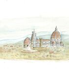 Watercolor of Florence by Bradley B.  Huizenga
