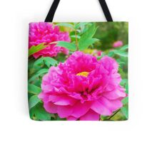 Red flowers of Peony Tote Bag