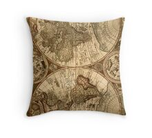 Ancient Map Throw Pillow